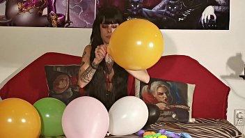 Sexy teen girl's balloon fetish part2 1080p
