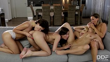 Cazy Sexy Lesbian foursome with Tracy Lindsay & Friends Thumbnail