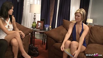 Young Girl talk Wife and Husband for 3some after Party and watch first Ass Fuck