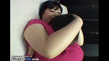 Jav BBW fucks tiny guy with her massive boobs