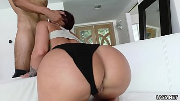 Round tan ass rides thick cock