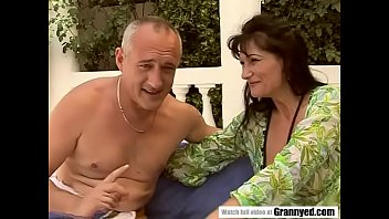 Garden anal with a hungarian mature