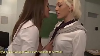 Sexy Lesbian Teacher Sucks On The Naughty School Girls Clit