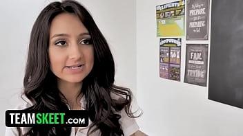 Sexy School Girl Has Crush On Her Hunky Teacher