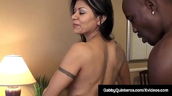 Mexican Milf Gabby Quinteros & Mature Milf Alexis Golden get Wesley Pipes' Big Black Cock in their warm mouths & wonderful wet pussies in this hot interracial 3some!
