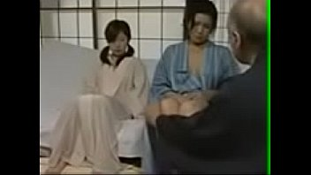 japanese old man seduce mother and her daugter