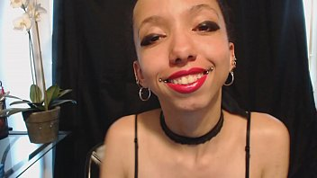Pink Lipstick and a Wet Messy Saliva Dripping Tongue Thumbnail