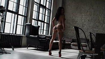 Beautiful babe kate teasing us wearing black lingerie and high heels in hd erotic video - telugu sex video hd 3gp porn Thumbnail