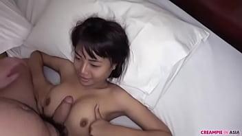 Busty Thai slut has her pussy pumped full of cum in a cheap hotel