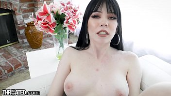 Throated - Goth Teen Leda Elizabeth Deepthroats Cock