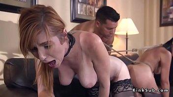 Kinky couple fucking hot wife outdoor and indoor