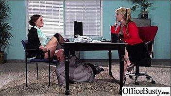 Hard Sex Action With Big Tits Slut Office Girl (krissy lynn) clip-19