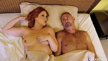 Her pathetic hubby cannot properly satisfy her sex needs, so Edyn calls a gigolo to fuck her in front of her hubby until the demands of the busty redhead are satisfied! Thumbnail