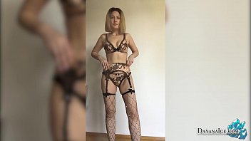 Gorgeous Blonde in Lingerie Arranged a Photo Shoot Online