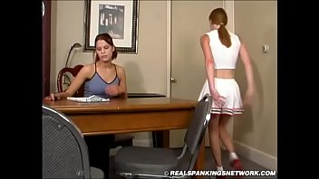 Spanking Teen Jessica - Cheerleader Paddling with Kailee