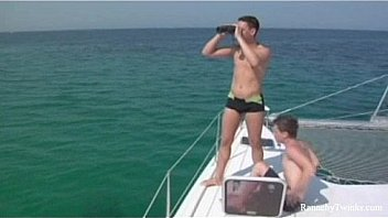 Two nasty twinks fuck on a sail boat
