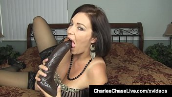 Watch Hot Tits Milf Charlee Chase, pussy pounds her lovely older lady cock hole with a big black dildo until she cums! Full Video & Charlee Chase Live @ CharleeChaseLive.com! preview