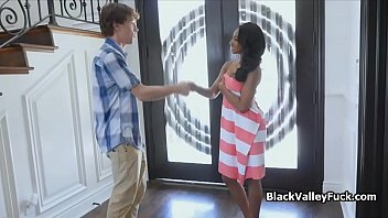 Interracial cocking with a beautiful ebony teen
