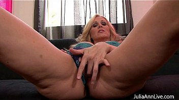 Watch Sexy Milf Julia Ann is ready to play with her big titties and some metal nipple clamps, feeling a bit kinky Julia puts them on her hard nipples. Make sure to see Julia live free for her members! Join preview