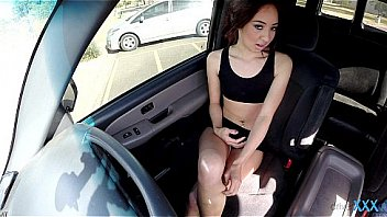 DriverXXX - Tiny teen rides cock for a drive home
