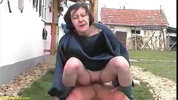 extreme ugly hairy bush grandma enjoys a wild outdoor big cock ride with her horny grandson