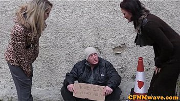 Femdom Brooklyn Blue bj for homeless man