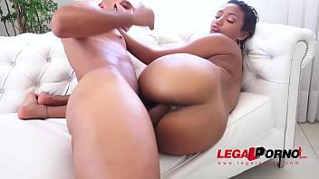 Sexy brazilian slut Marcella Shultz assfucked 3on1 & DP'ed BZ020
