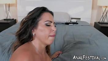 Huge ass MILF riding thick hard dick