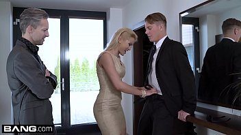 Cherry Kiss fucks the new ad executive in this double penetration scene