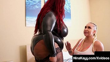 Nasty Nympho Nina Kayy gets Strap-on fucked By Dark Diva Jalisa Elite who's huge tits, ass & body jiggle as she pounds plump pussy Nina! Full Video & Nina Kayy Live @ NinaKayy.com!