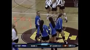Volleyball girls butt grabs 2