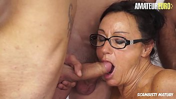 AMATEUR EURO - Naughty European Newbie Laura Rey Gets Fucked By Four Guys