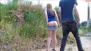 Couple having Sex on the roadside
