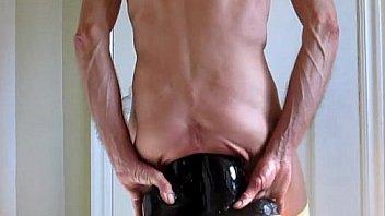Panties down double ass fuck huge black cock dildos