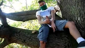 Young Guy Jerk off in a wood