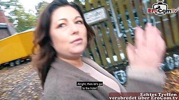 Dicke normale Hausfrau auf Berlin Straße zum EroCom Date Sexdate getroffen und verführt