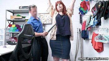 Smoking hot redhead MILF Amber Dawn is a thief