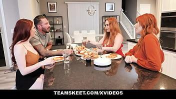 Busty redheads want a big cumshot - Team Skeet