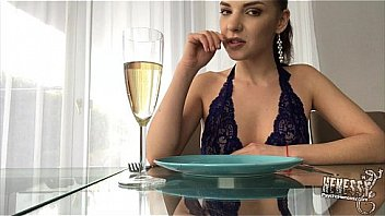 Romantic dinner with deep throat