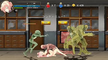 Pretty 18yo woman hentai in sex with men , alien and male monster in adult animated cartoon game
