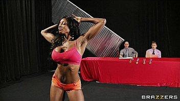 Four big-tit fitness fanatics strip down for a hardcore orgy