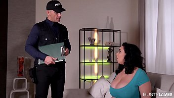 Busty lovers Anastasia Lux calls stud cop to relieve her horny hardcore fucking needs