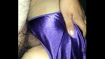 purple satin panties creampie