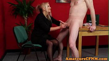 MILF doctor teases her patient during CFNM Thumbnail