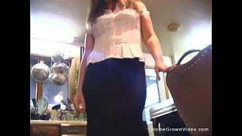 Cute brunette milf sucks then fucks her husband in homemade video