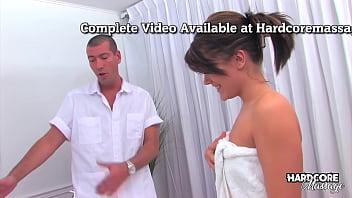 Hardcore massage - Hot Inked Brunette Teen Naked Massage