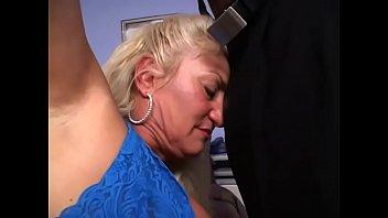Mature blonde in stockings Dana Hayes likes hard black cock