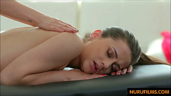 Sore ass girl gets a pain relieving massage