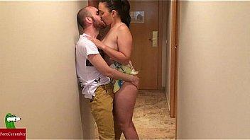 Horny couple fucks on arrival at hotel