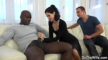 Brunette Babe Lina Arian and Her Husband Talk a Black Dude into Ass Fucking Her Thumbnail